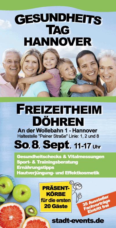 Flyer Gesundheitstag Hannover